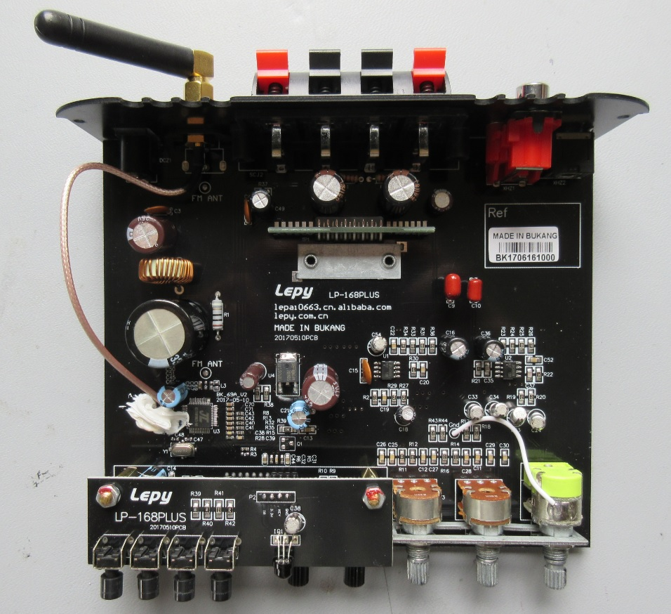 Teardown Tuesday Hi Fi Audio Amplifier With Bluetooth News 10w Class D Power Schematic Diagram These Screws Removed The Amplifiers Guts Simply Slide Out Of Outer Enclosure Below You Can See Top Side Pcb Assembly