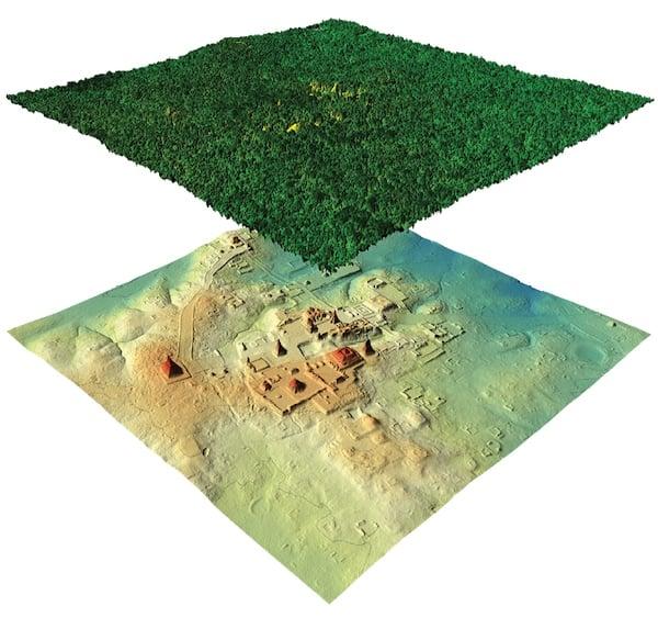 LiDAR mapping of Tikal