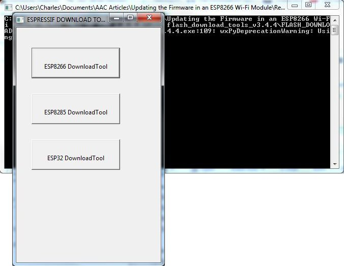 How to Flash ESP-01 Firmware to the Improved SDK v2 0 0