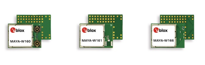 Image of the MAYA-W1 family from u-blox.
