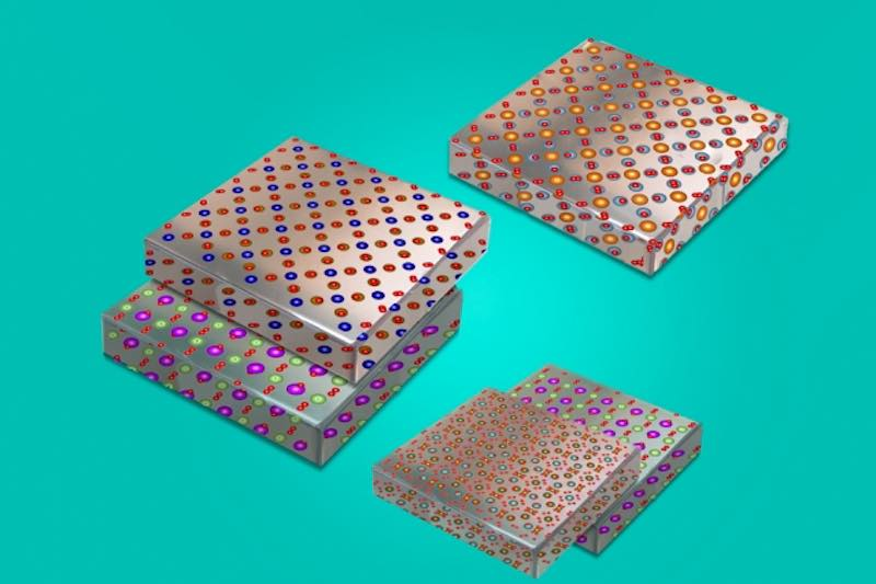 Peel and stack thin films of metal oxides.