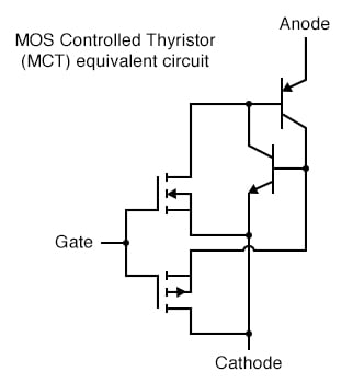 MOS-controlled thyristor (MCT) equivalent circuit