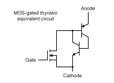 MOS-gated thyristor equivalent circuit