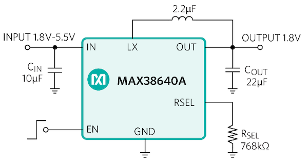 Figure 6. High-performance buck converter simple application circuit