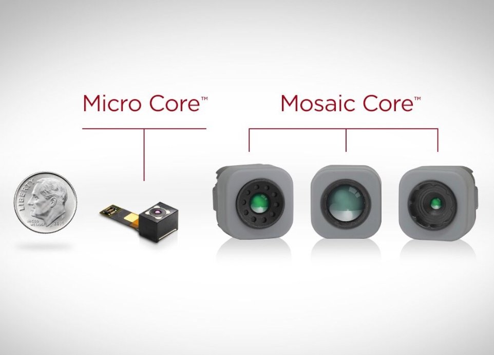The Micro Core and Mosaic Core thermal cameras.