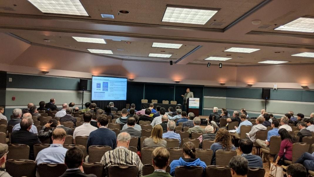 Packed room at one of 13 security sessions at the 2018 RISC-V Summit.