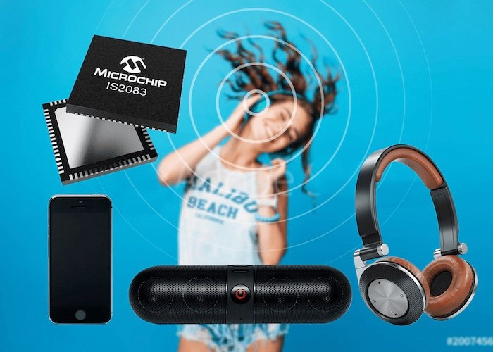 Microchip's IS2083 IC and BM83 will get speaker and headphone products to market faster. Image used courtesy of Microchip.