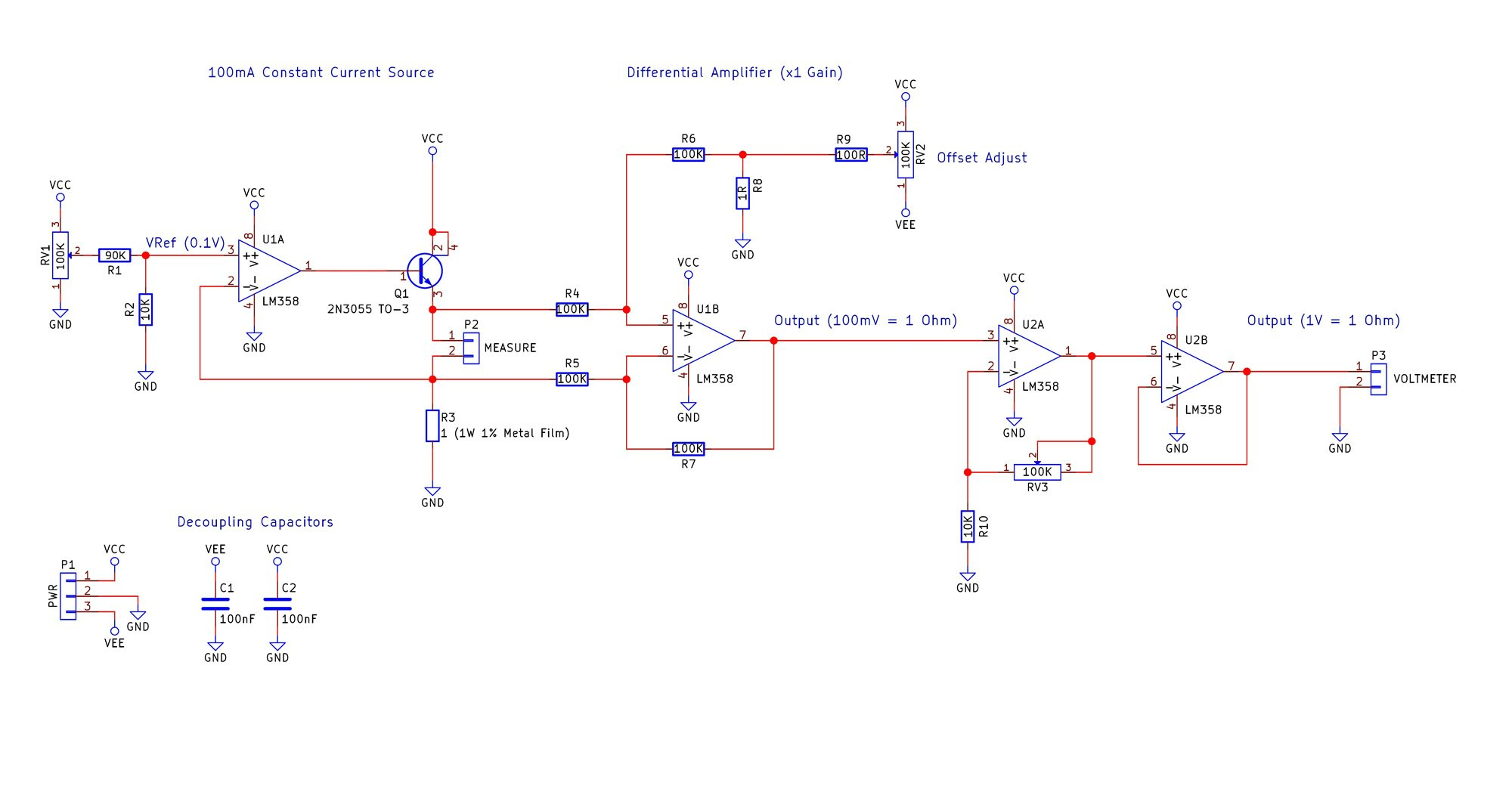 Build Your Own Low Resistance Meter Mosfet Tester Circuit Diagram