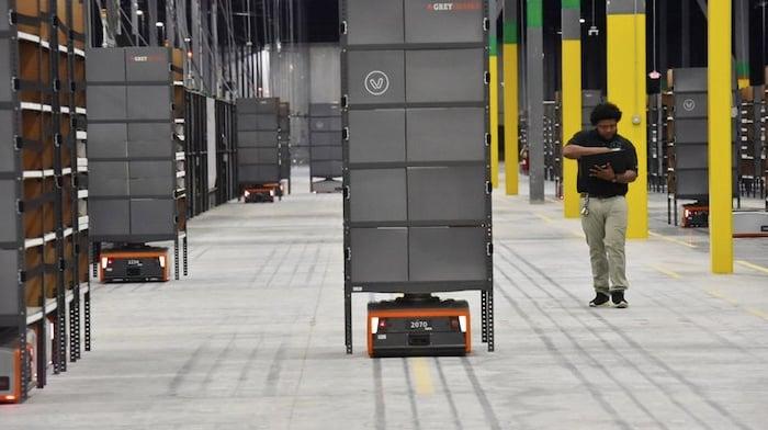 Modern warehouses employ a fleet of robots