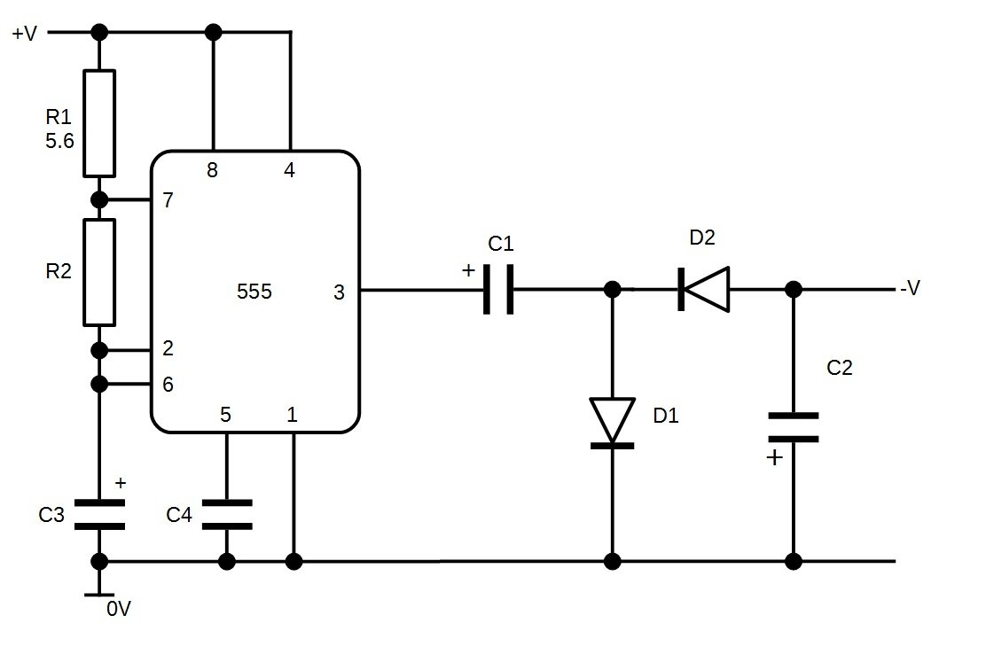 Build Your Own Negative Voltage Generator Schematic Diagram Of A Model 741 Opamp The Complete Circuits