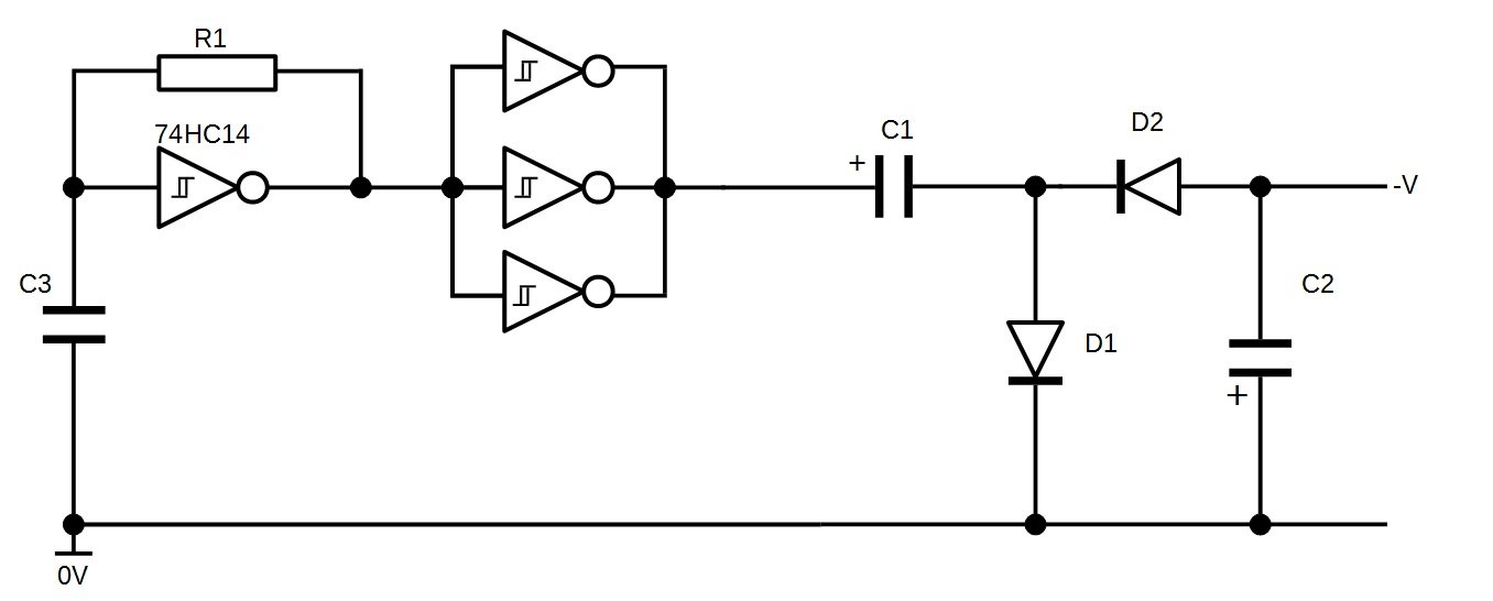 the final circuit  here is the negative voltage generator