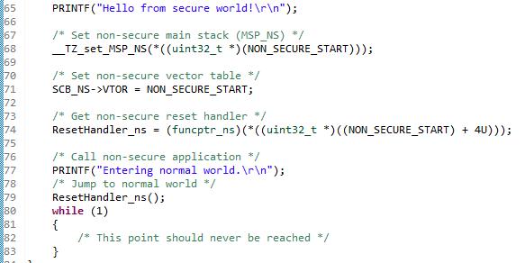 é responsabilidade do projeto seguro configurar a memória e o projeto não seguro