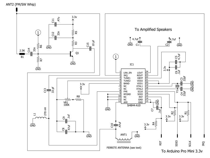 Sensitive Fm Radio Tuner Circuit Schematic