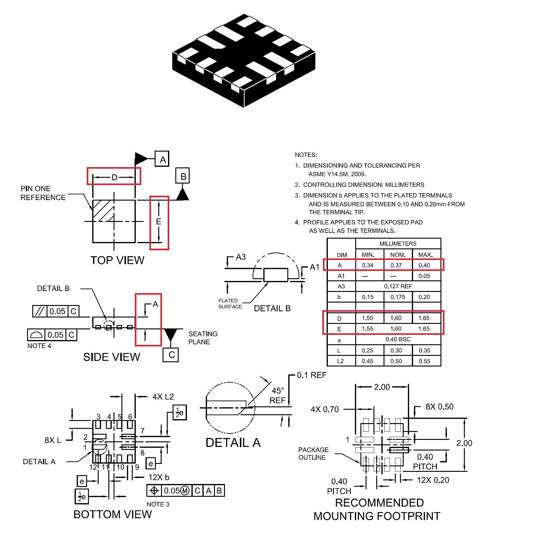 Usb Type C An Autonomous Port Controller With I2c And Gpio Control Hub Circuit Diagram More Figure 1 The Fusb303 Comes In A Small 12 Lead Qfn Package 16 0375 Mm From Datasheet