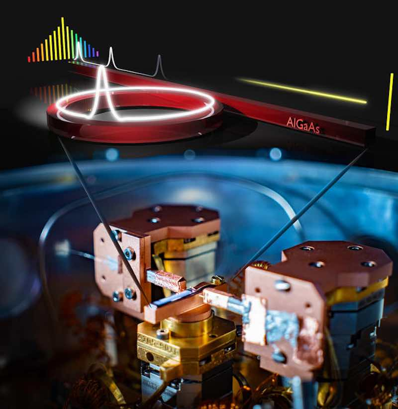 Optical microresonator made from aluminum gallium arsenide.