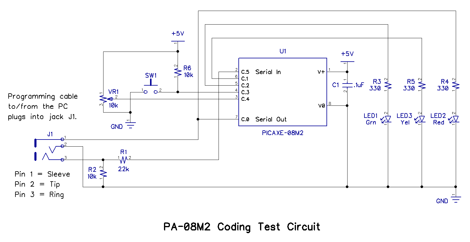 Writing Picaxe Basic Code Part 4 What Is A Voltage Divider Circuit 1 Provided Complete Details For The Construction Of Pa 08m2 Coding Test Which Essential To Completion This Article