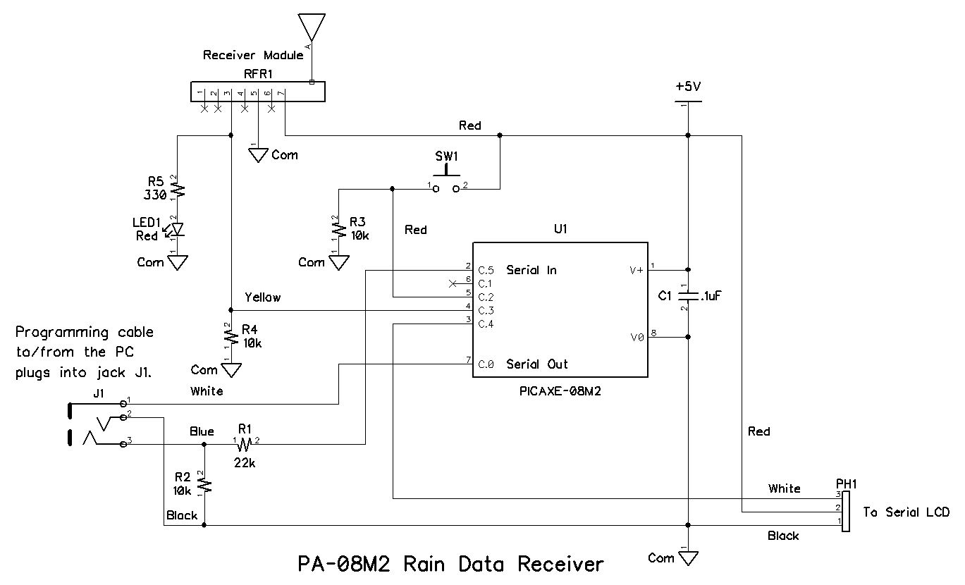 Rain Detector Circuit Schematic Diagram Build A Wireless Tipping Bucket Gauge Part 3receiver Click To Enlarge