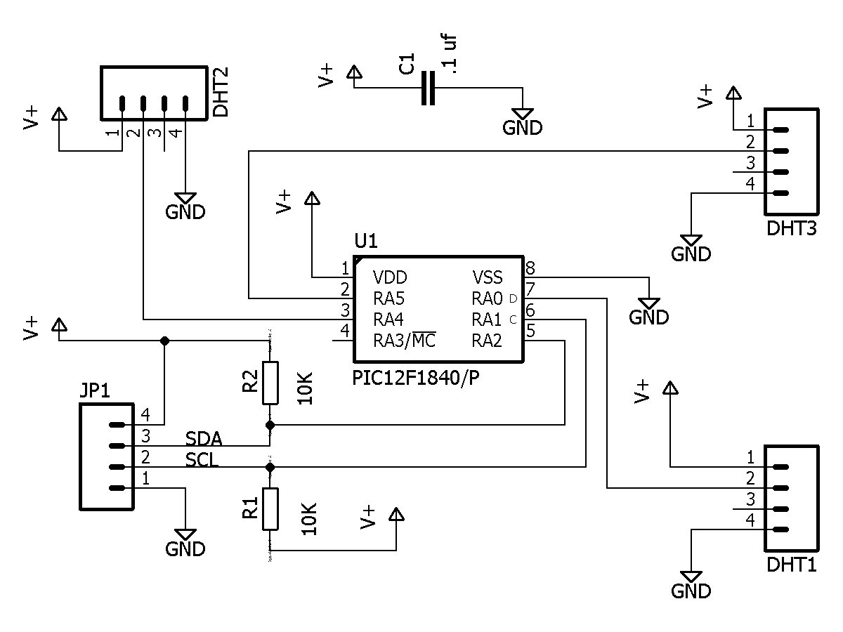 Figure 1. Schematic for the PIC I2C Board.