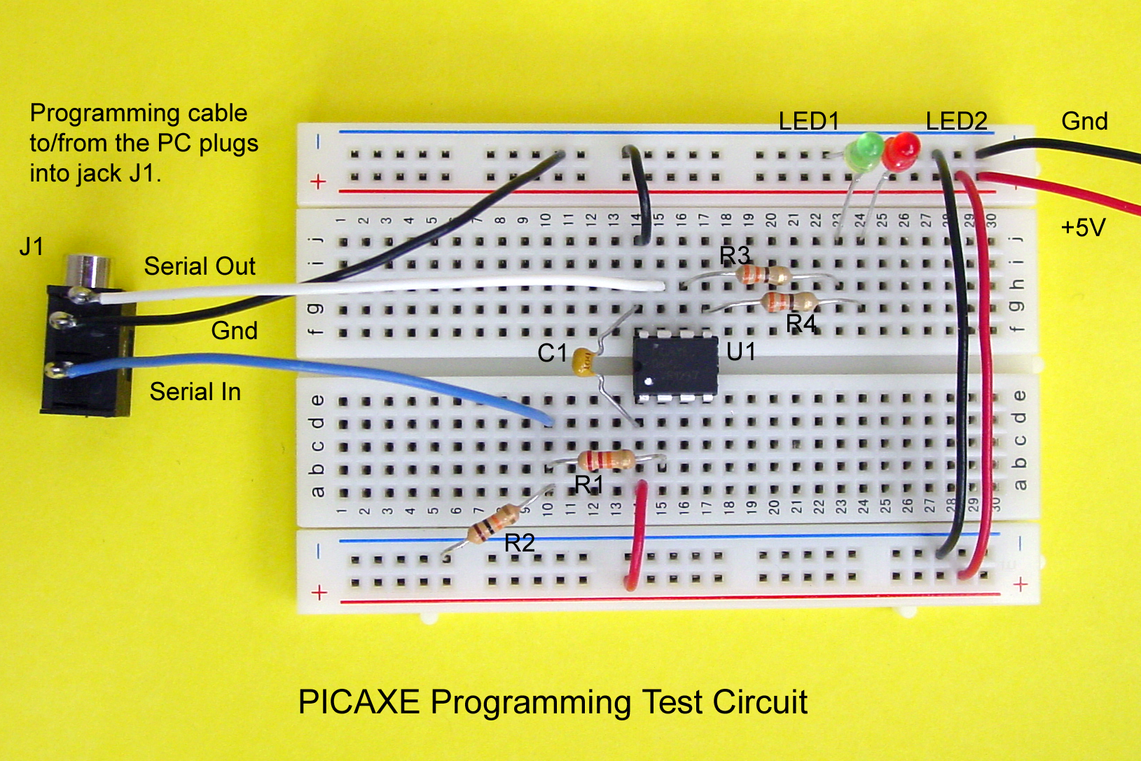 Picaxe Programming Basics Part 1 Microcontroller Programmer Circuit Get Domain Pictures Test Parts List