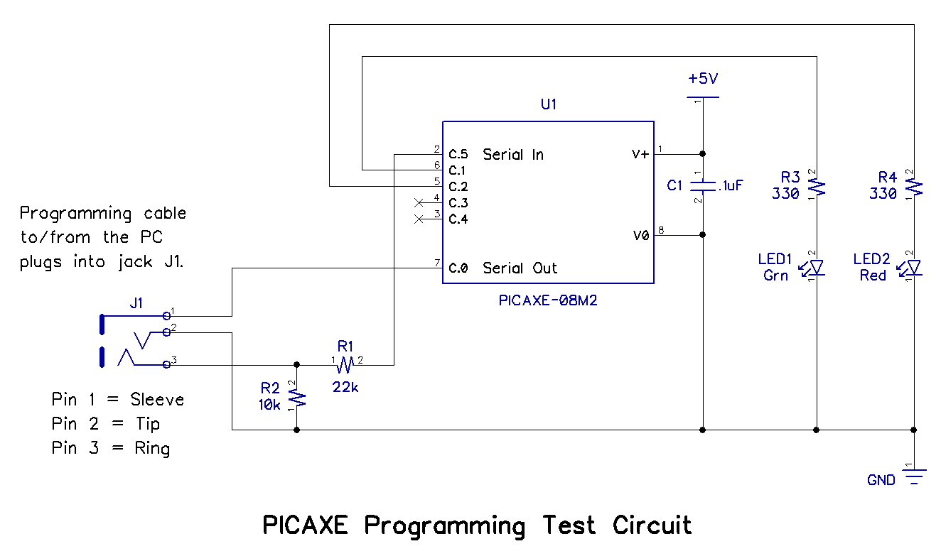 technology picaxe programming basics part 1  picaxe programming test circuit parts list