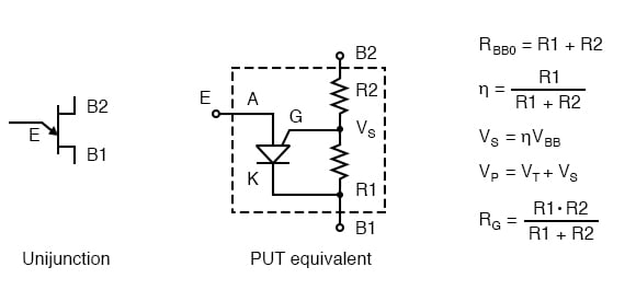 PUT equivalent of unijunction transistor