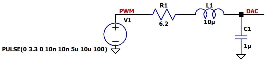 Low-Pass Filter a PWM Signal into an Analog Voltage