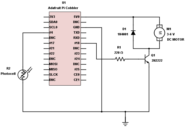 Photocell Motor Driver build an object detection dc motor controller dc motor wiring schematic at mifinder.co