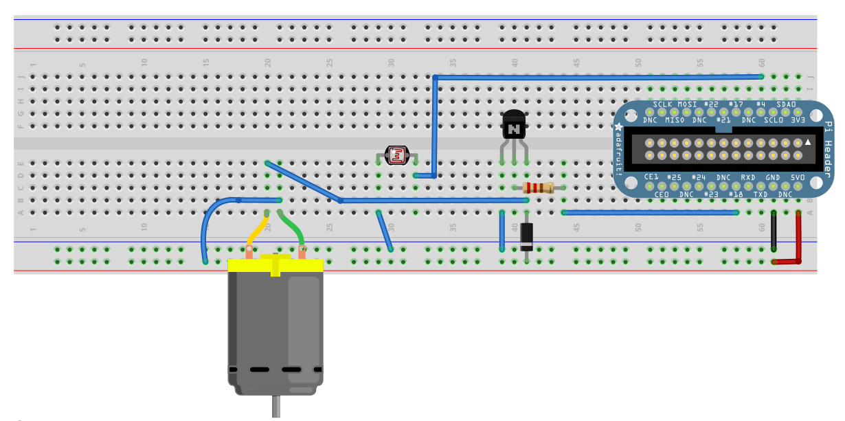 Build an object detection dc motor controller for Dc motor control circuit diagram