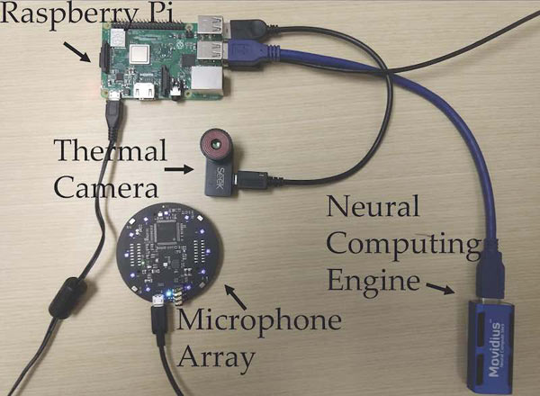 The components found in the FluSense device.