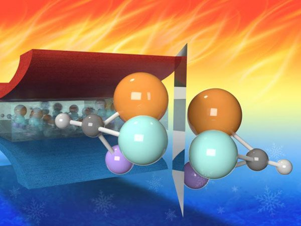 An MRI showing chiral molecules which give relaxor ferroelectrics their desirable properties.