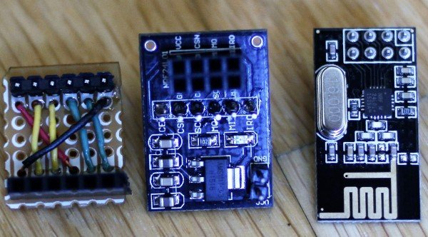A homemade module is used to interface the base module with the arduino