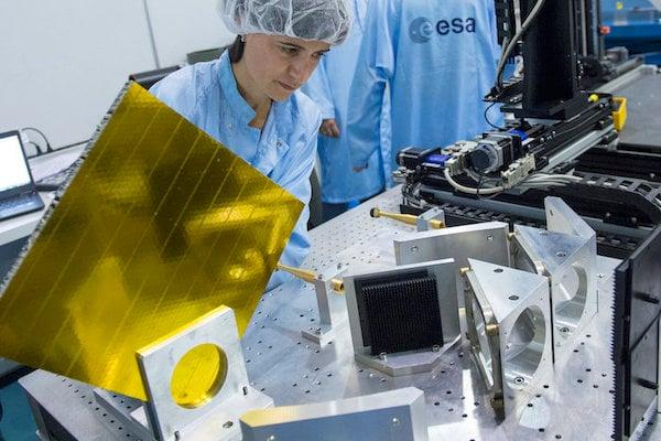 The European Space Agency testing RF antenna coatings.