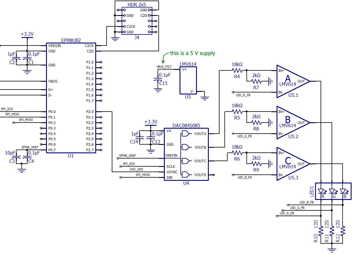 Design A Color Sensor With Measurements Displayed Via An Rgb Led Module 3v Lamp Brightness Controller Circuit Diagram Firmware