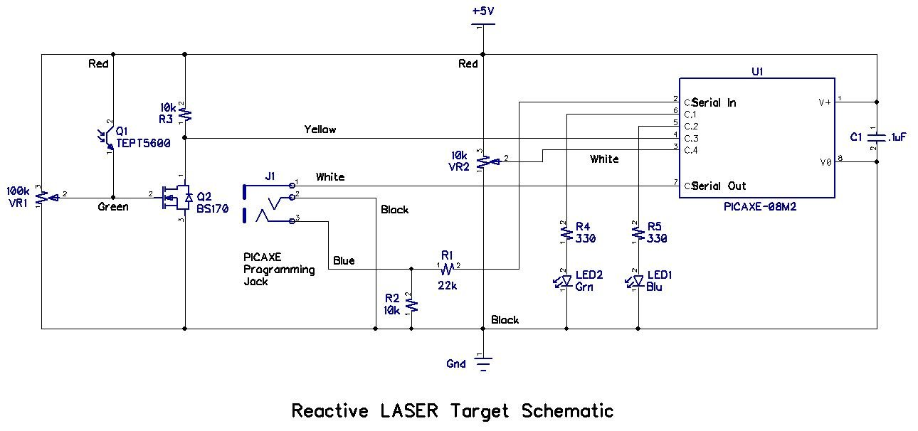 Reactive_LASER_Target_Schematic_A1  Wire Light Diagram on 3 way light diagram, 3 wiring diagram, 3 light switch,