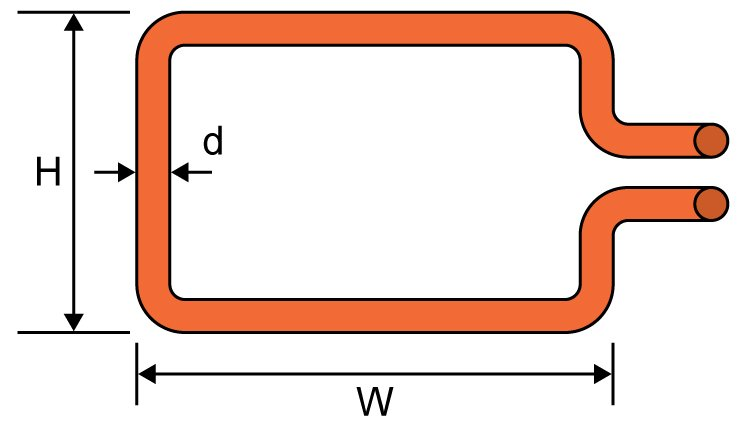 Rectangle Loop Inductance Calculator - Electrical Engineering