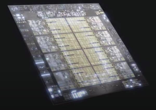 Rendered image of the Telum processor