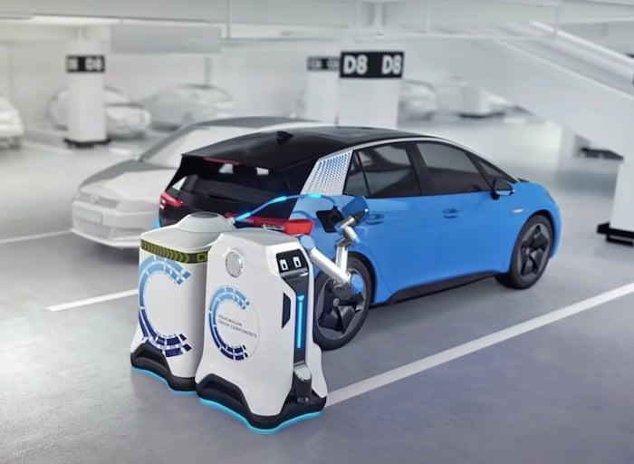 Rendering of Volkswagen's self-driving robot