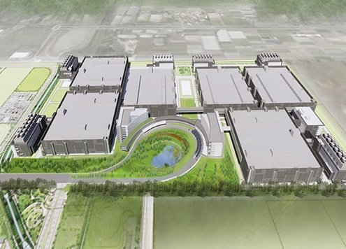 Rendering of one of TSMC's 5nm production facilities