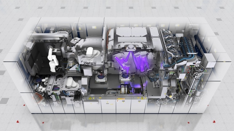 Rendering of the inside of ASML's EUV machine