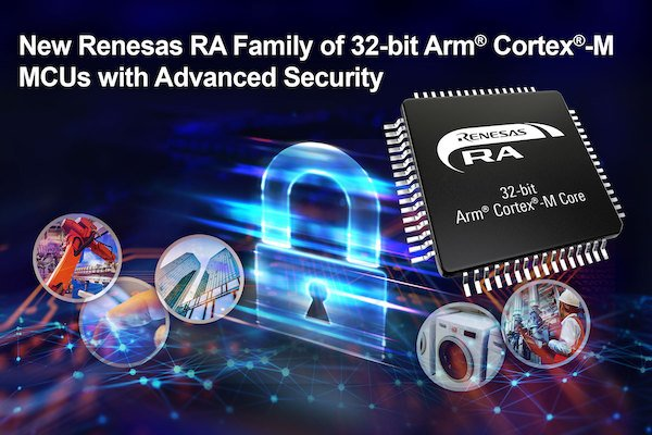 Renesas RA family of 32-bit MCUs with advanced security