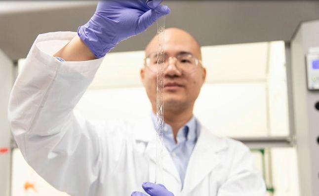 Researcher Binbin Ying stretchingAISkin