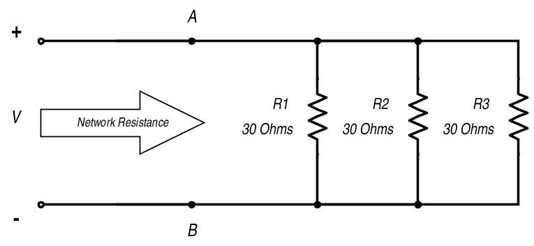 resistance in parallel networks