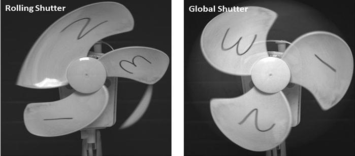 Rolling Shutter vs. Global Shutter