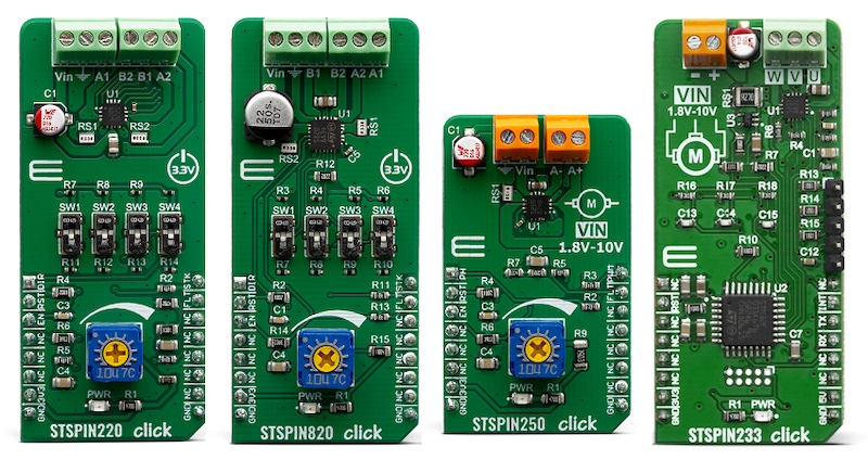 STMicroelectronics and Mikroe's Click boards