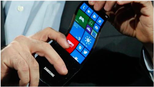 Samsung's flexible smartphone concept