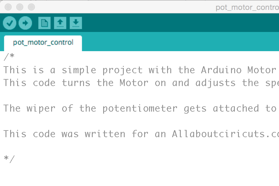 A file for the Arduino IDE titled