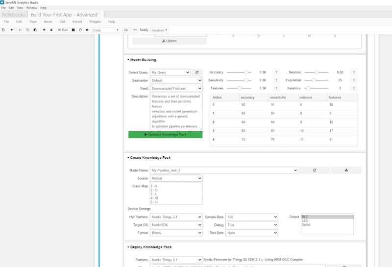 SensiML Analytics Studio