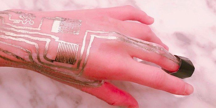 Printing sensors directly on human skin