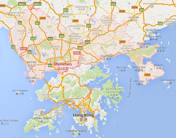 Startup appeal shenzhen emerges as a technology hub news image courtesy of google maps gumiabroncs Image collections