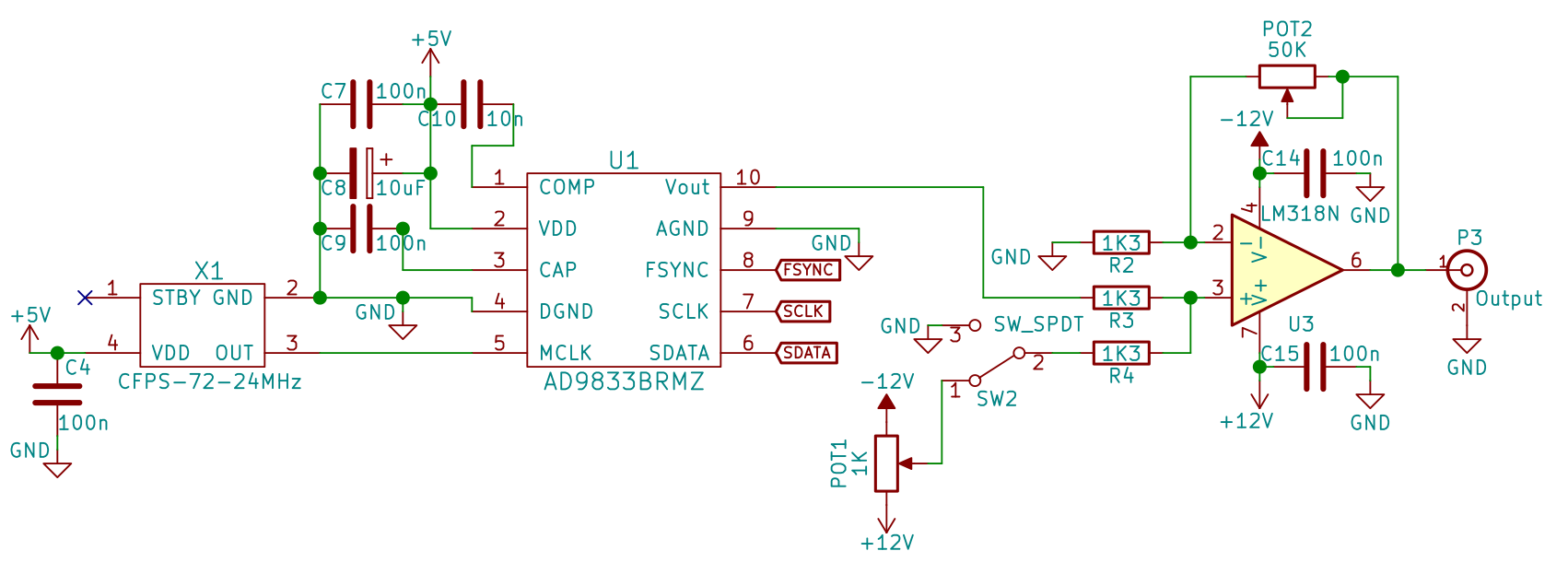 How To Build Your Own Function Generator Using Analog Devices Ad9833 Baud Rate Electronic Circuits Diagram Schematic